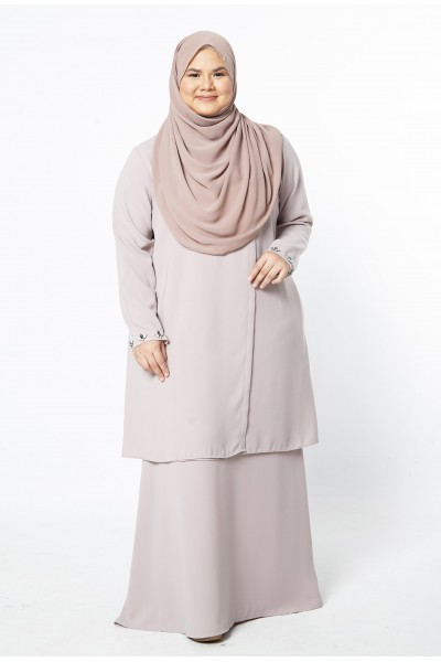 HAWANI PREMIUM WRAP KURUNG - NUDE BROWN