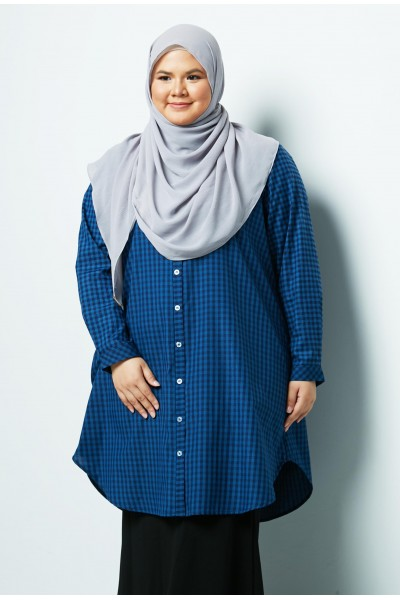 RAUDAH LONG SHIRT  -  BLUE