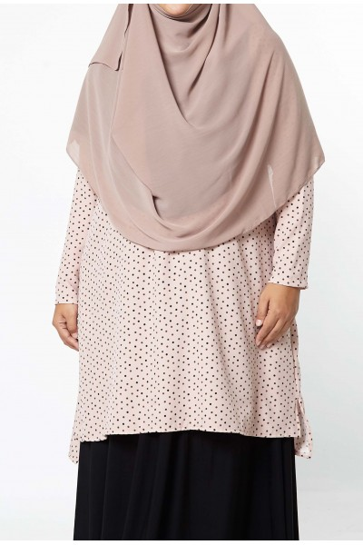 AZZAHRA TUNIC POLKA DOTS - LIGHT PINK