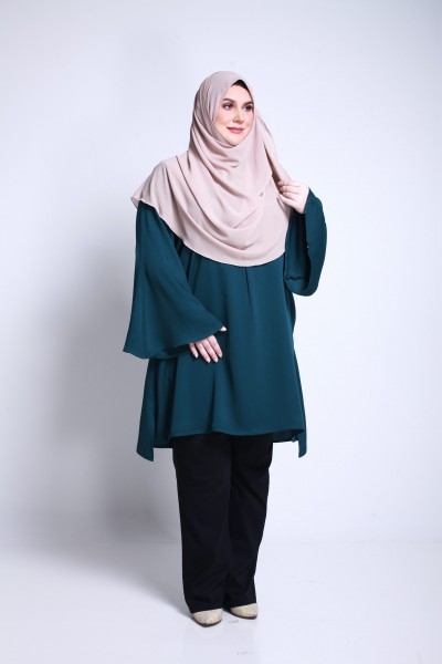 DEENA TUNIC - EMERALD GREEN