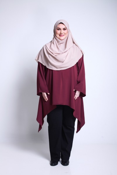 RAISHA TUNIC - MAROON
