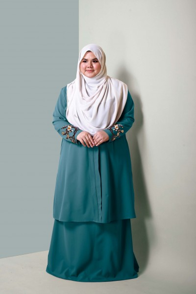 ALEESA EMBROIDERED KEBARUNG - MINT GREEN