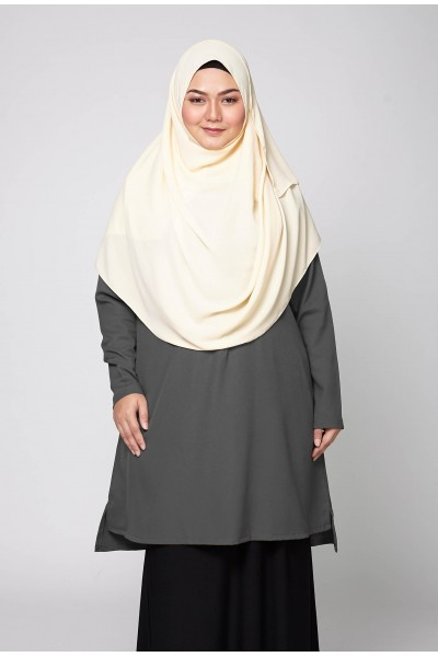 AZZAHRA TUNIC - DARK GREY