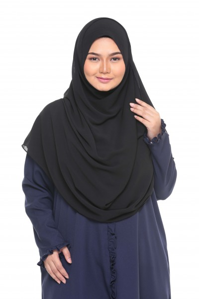 TALIA TEXTURED SHAWL XL - BLACK