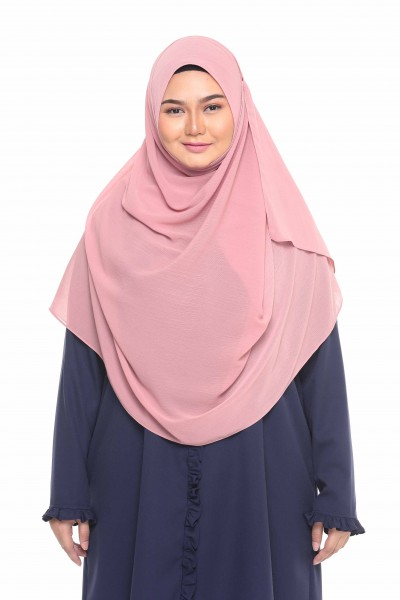 TALIA TEXTURED SHAWL XL - DUSTY PINK