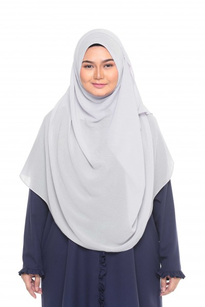 TALIA TEXTURED SHAWL XL - GREY