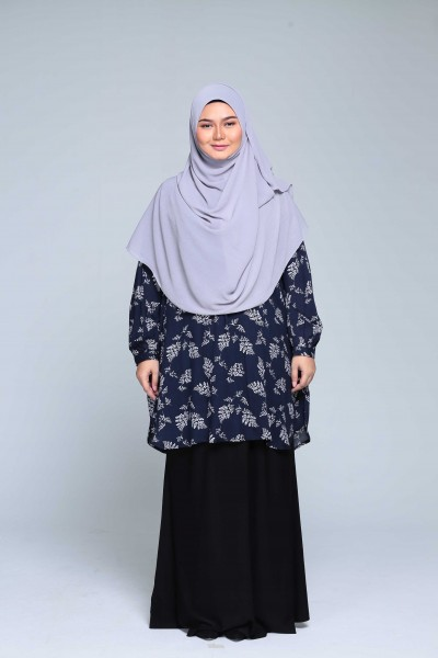 ZALIA PRINTED - NAVY BLUE