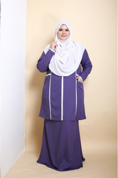 AS-IS BALQIS KURUNG - PURPLE