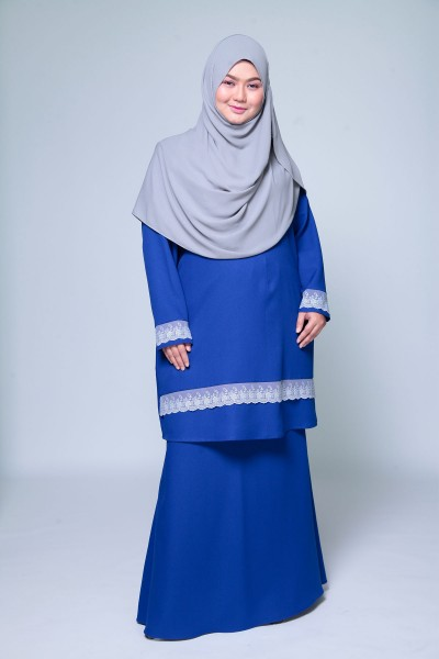 KHADIJAH LACEY KURUNG – ROYAL BLUE