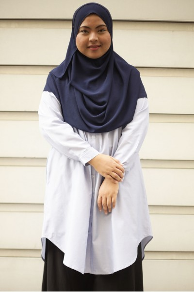 ADILAH TUNIC - STRIPED LIGHT BLUE