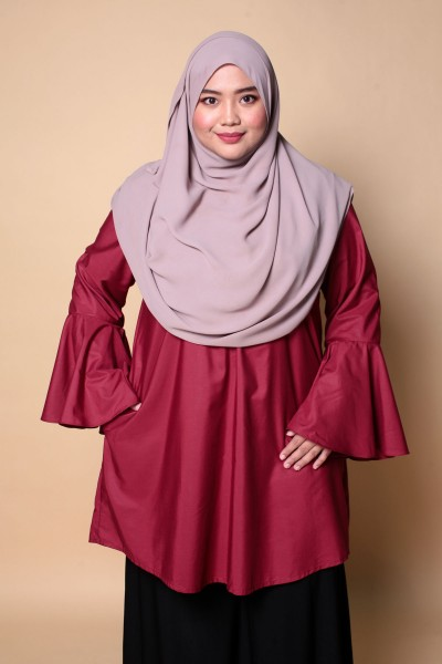SALMA TUNIC - MAROON RED